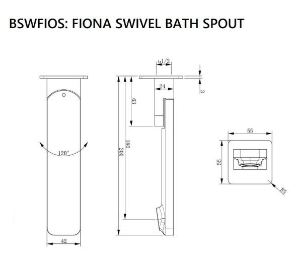 Fiona - Black Bathroom Swivel Spout