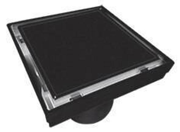 Tile Insert Grate 110mm x 80mm Black