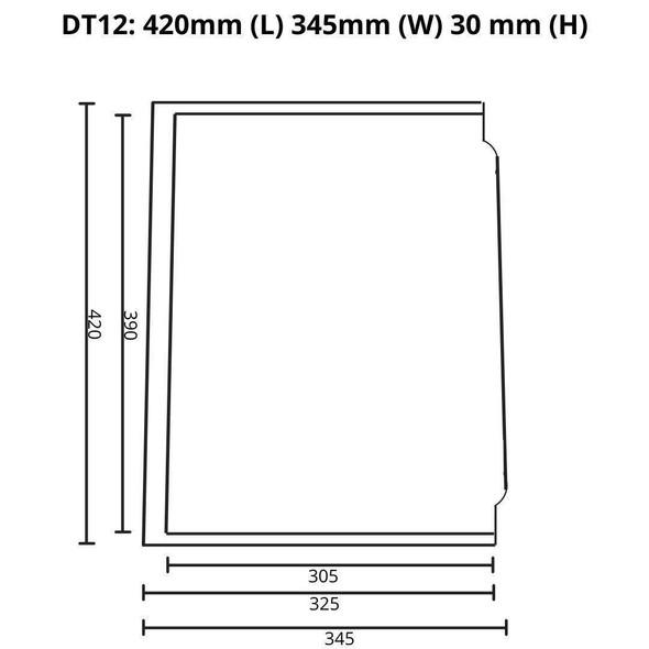Quadro/Tech - Gun Metal Kitchen Drainer Tray
