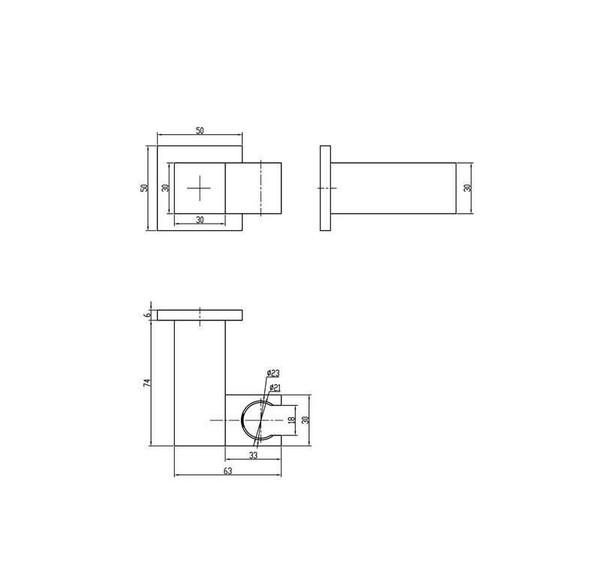 Topaz - Gun Metal Hand Shower Holder Set