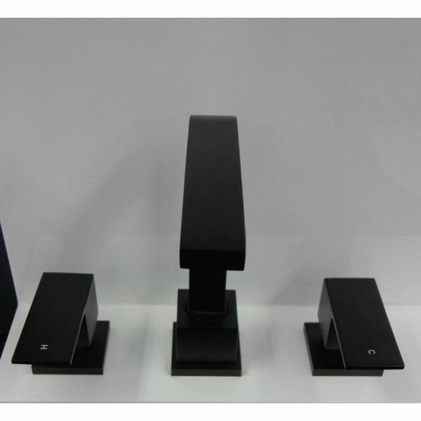 Square - Basin Set Matte Black