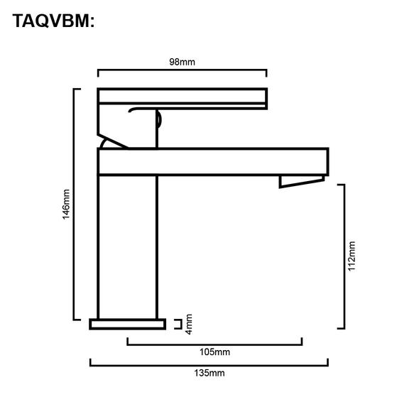 Venice - Gun Metal Basin Mixer