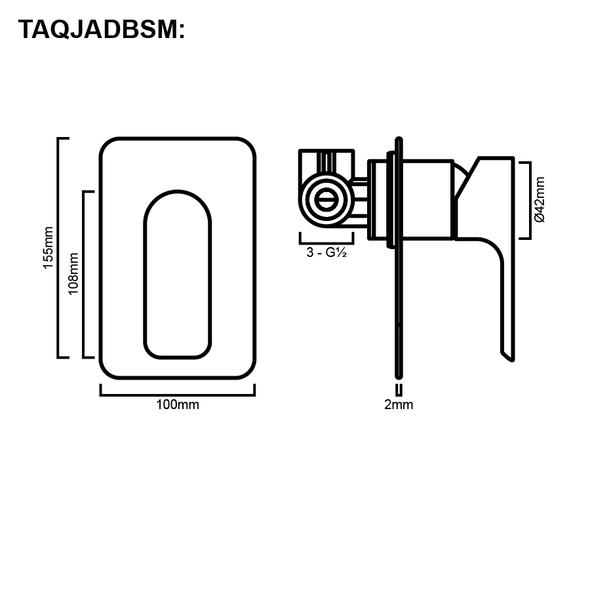 Jade - Black Bath/Shower Mixer