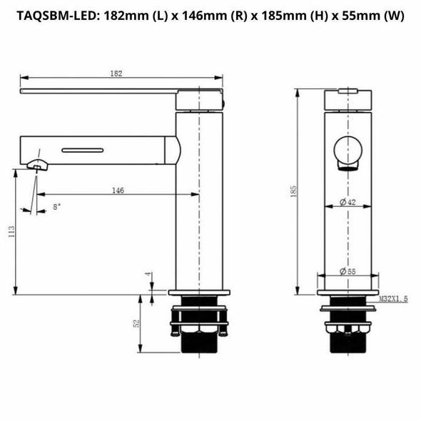 Sofia - Chrome Extended Basin Mixer LED