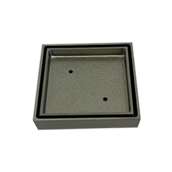 Tile Insert Grate 100mm x 80mm Brushed Nickel
