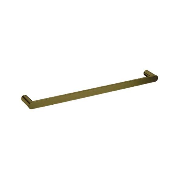 Saturn - Brushed Gold Single Towel Rail 800mm
