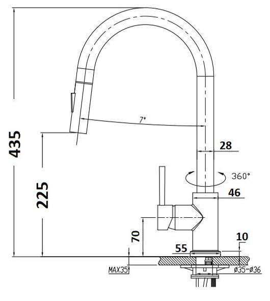 Jasper - Brushed Nickel Pullout Sink Mixer