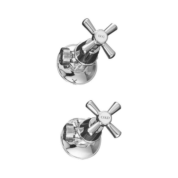 Apollo - Chrome Washing Machine Tap Set
