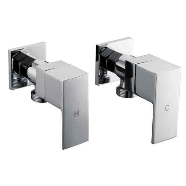 Square - Chrome Washing Machine Taps