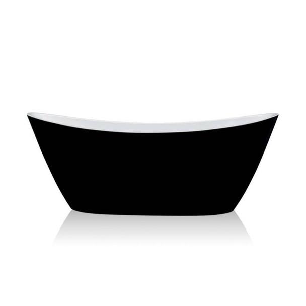 Denise - Black Freestanding Bath 1700mm