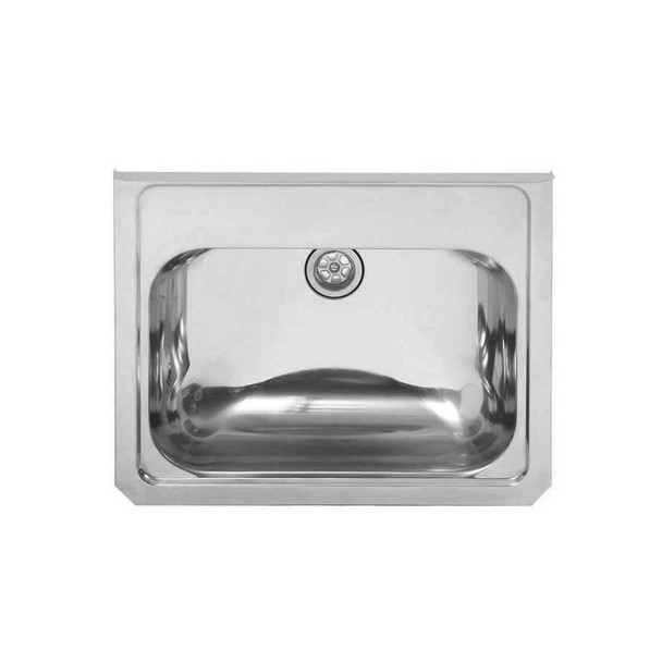 Large Wall Hung Stainless Steel Hand Basin