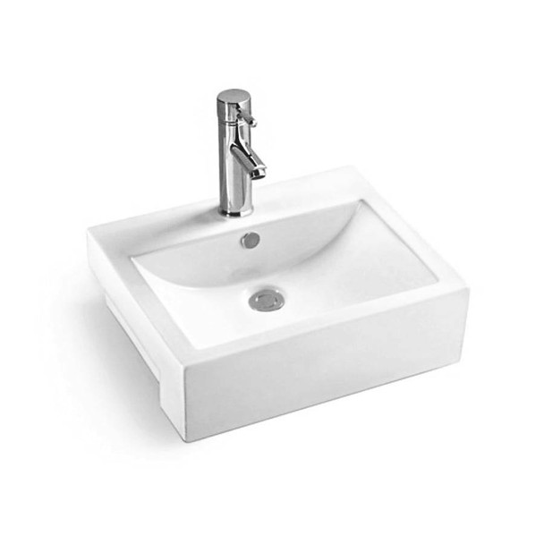 Nelson - White Semi Recessed Basin