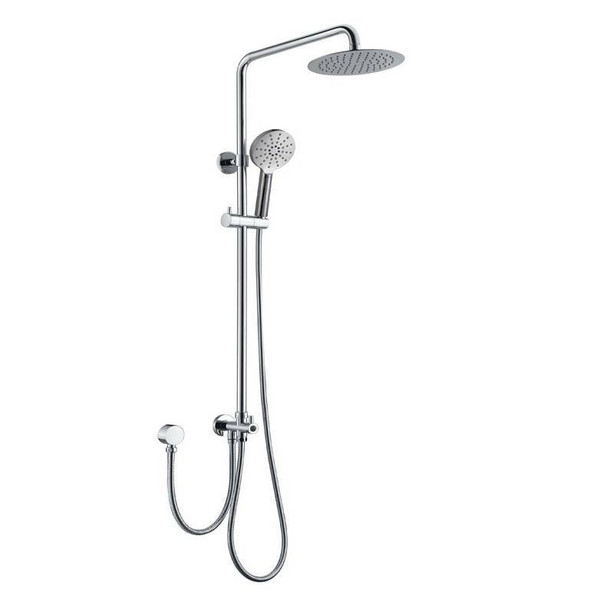 Round - Chrome Double Hose Shower Column