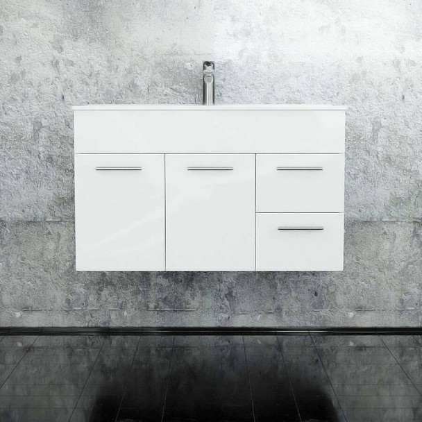 Classic - Wall Hung Vanity and Top 900mm