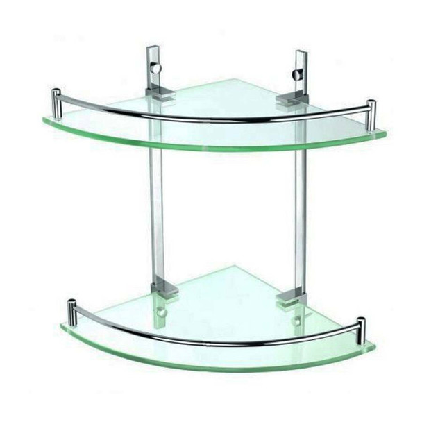 Roma - Double Glass Corner Shelf