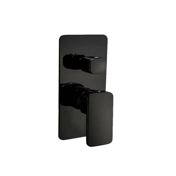 Fiona - Black Bath/Shower Mixer With Diverter