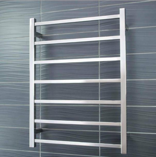 Heated Towel Rail - Square 7 Bar 600x800mm