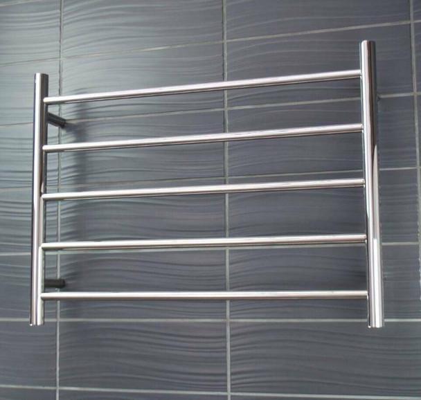 Heated Towel Rail - Round 5 Bar 750x550mm