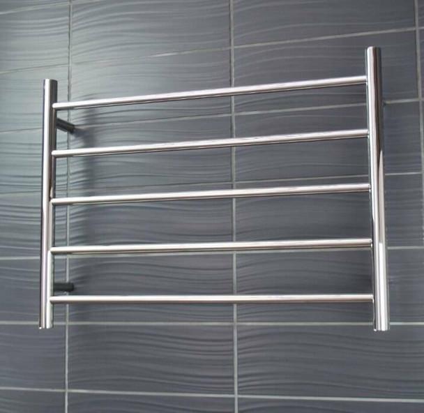 Non-Heated Towel Rail - Round 5 Bar 750x550mm