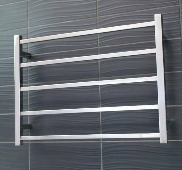 Non-Heated Towel Rail - Square 5 Bar 750x550mm