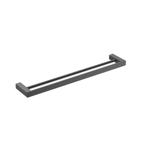 Fiona - Black Double Towel Rail 600mm