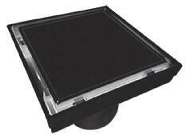 Tile Insert Grate 110mm x 80mm Black