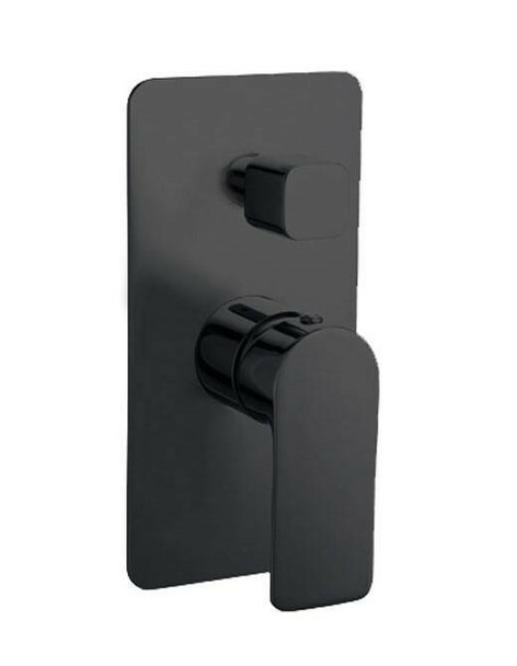 Jade - Black Bath/Shower Mixer With Diverter
