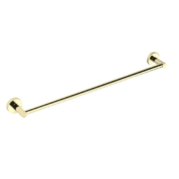 Sofia - Brushed Gold Single Towel Rail 750mm