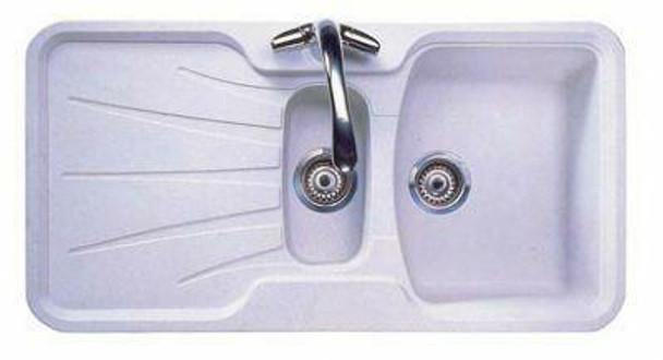 Korona 150 - White Granite Laundry Trough