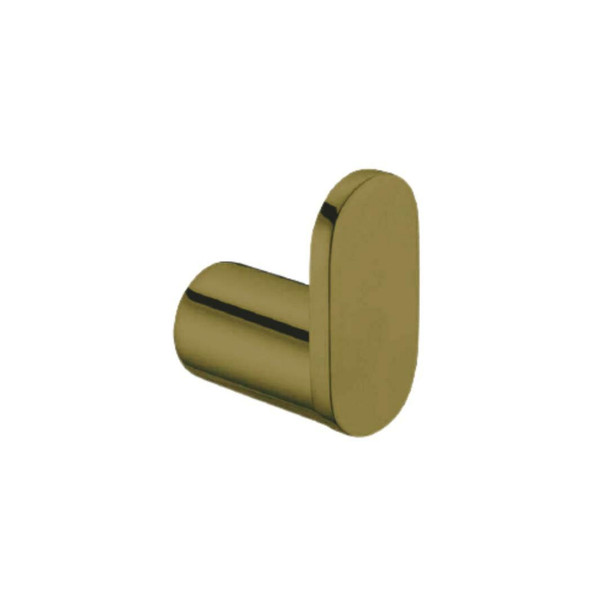 Saturn - Single Brushed Gold Robe Hook
