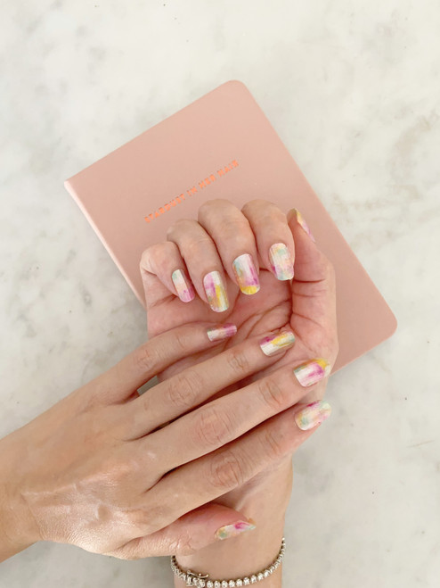 Glossy Up You Nail Wraps Non Toxic & Stylish Nail Wraps for the Woman on the Go | Water Colour