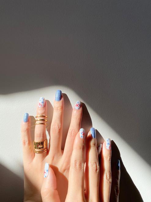 Glossy Up You Nail Wraps Non Toxic & Stylish Nail Wraps for the Woman on the Go | Off to Positano