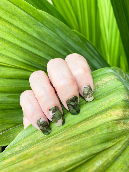 Glossy Up For the love of Monstera Nail Wraps