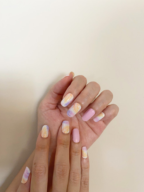 Glossy Up You Nail Wraps Non Toxic & Stylish Nail Wraps for the Woman on the Go | Summer in Ibiza