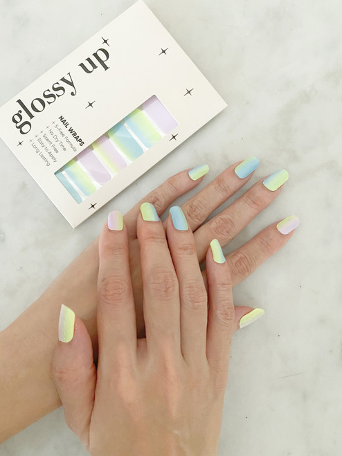 Glossy Up You Nail Wraps Non Toxic & Stylish Nail Wraps for the Woman on the Go | Childhood Dream