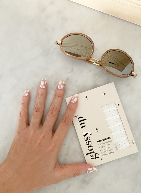 Glossy Up You Nail Wraps Non Toxic & Stylish Nail Wraps for the Woman on the Go   Daisy Power