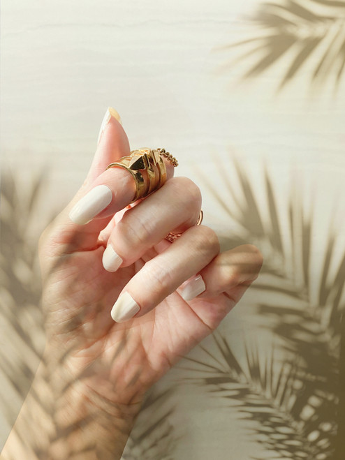 Glossy Up Bianco Nail Wraps