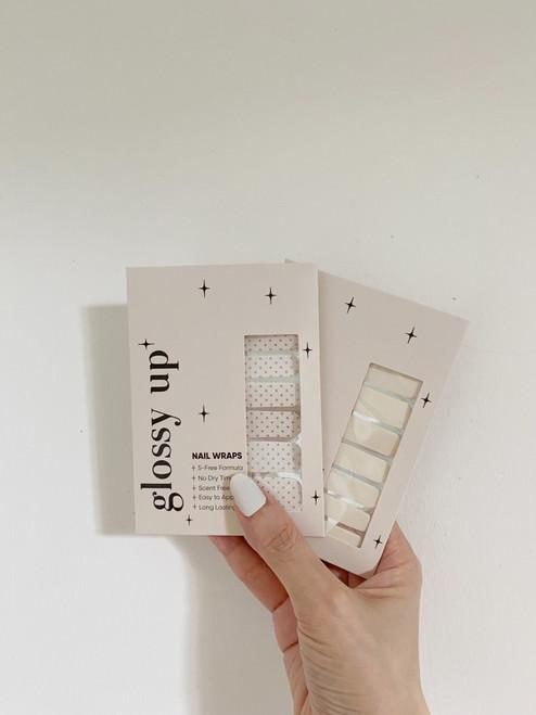 Glossy Up Gold Polka Dot Nail Wraps Bundle Set