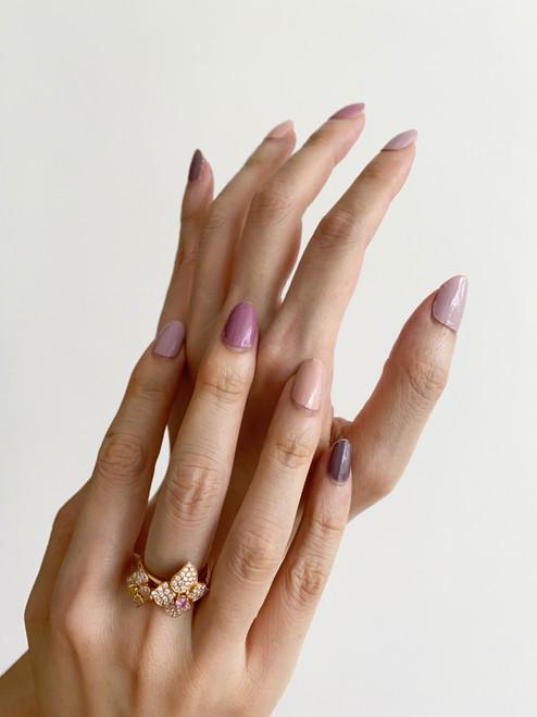 Glossy Up Lilac Hues Nail Wraps