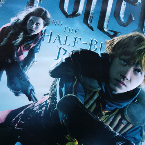 A Rare Harry Potter The Half Blood Prince 2009 Huge Cinema Foyer Poster Featuring Ron Ginny Weasley Glasgow Salvage