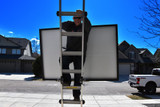Solar Panel Caddy Allows for Safer Ladder Climbing