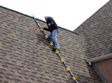 See the steep roof assist in use