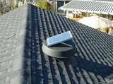 Install on the north side of the roof and adjust the solar panel to face south.