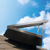 Adjustable solar panel allows you to install the attic fan on the opposite roof face of the solar system