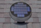 Solar Attic Fan, Low Profile Option for a clean look