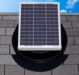 Adjustable solar panel for roofs that do not face south
