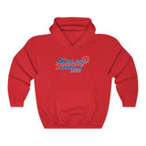 red hooded sweatshirt front
