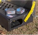 Uses 2 20 volt 5 ah Dewalt rechargeable batteries