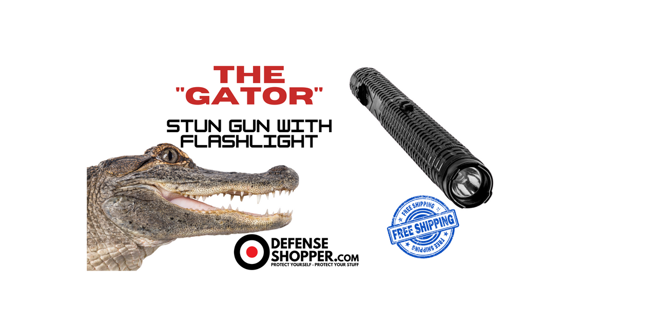 Stun Gun Flashlight, Gator, Free Shipping, DefenseShopper