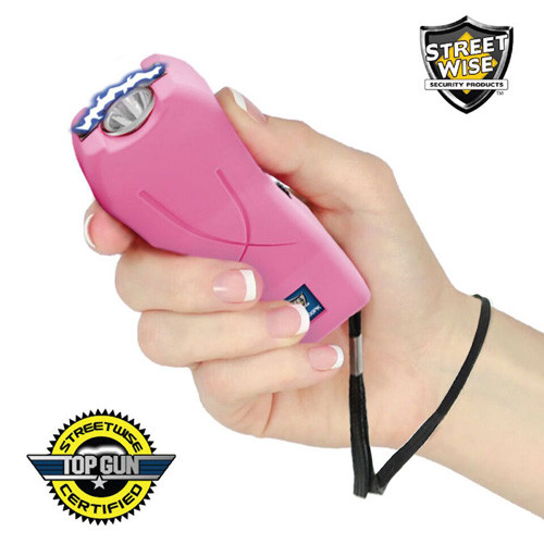 Lady Life Guard 6,500,000* Stun Gun Pink In Hand